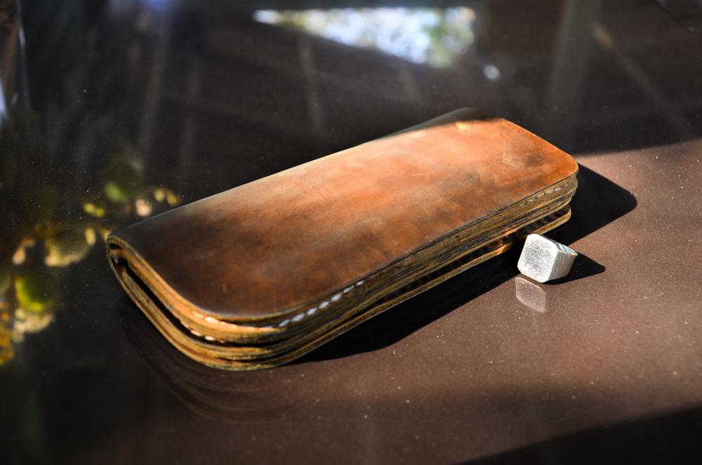 本革財布のエイジング