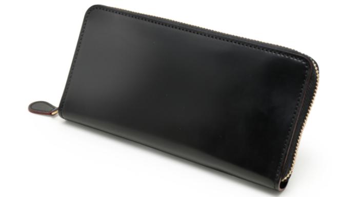 SHELL CORDOVAN2(シェルコードバン2)マチ無し長財布