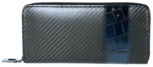 YCR114カーボンファイバー ラウンドファスナーウォレット